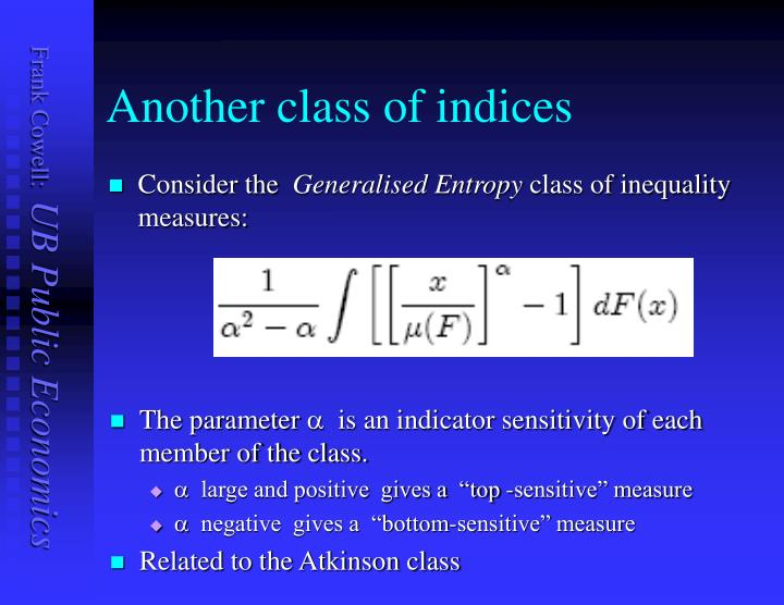 Another class of indices
