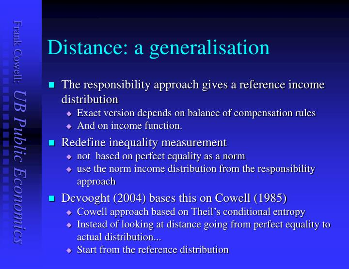 Distance: a generalisation