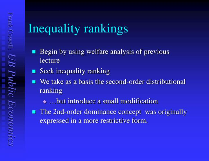 Inequality rankings