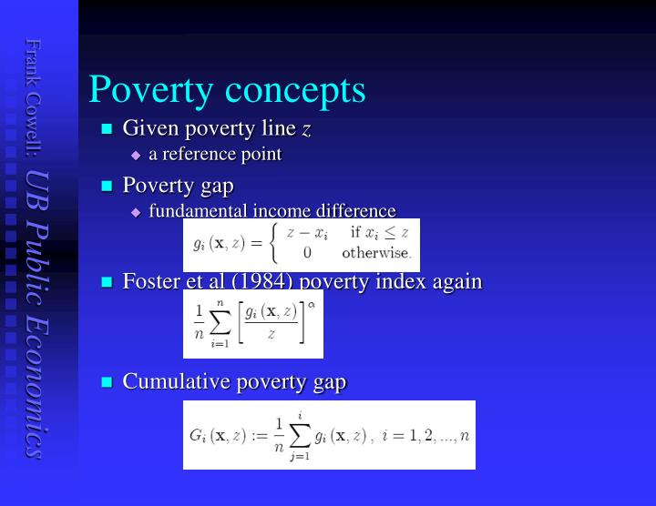Poverty concepts