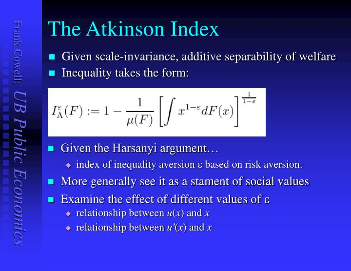 The Atkinson Index