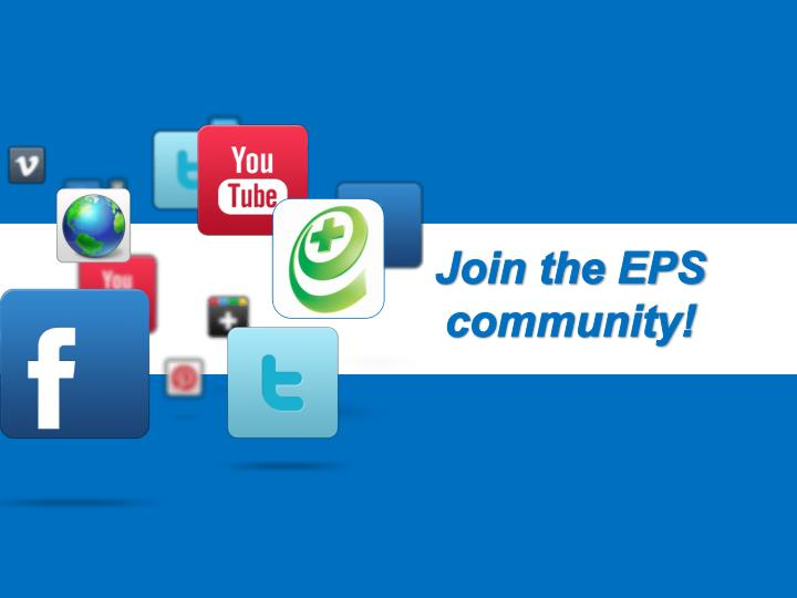 Join the EPS community!