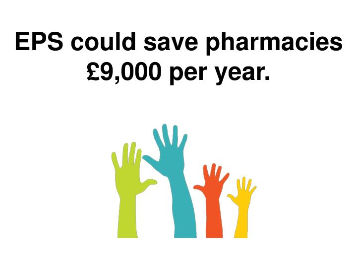 EPS could save pharmacies £9,000 per year.