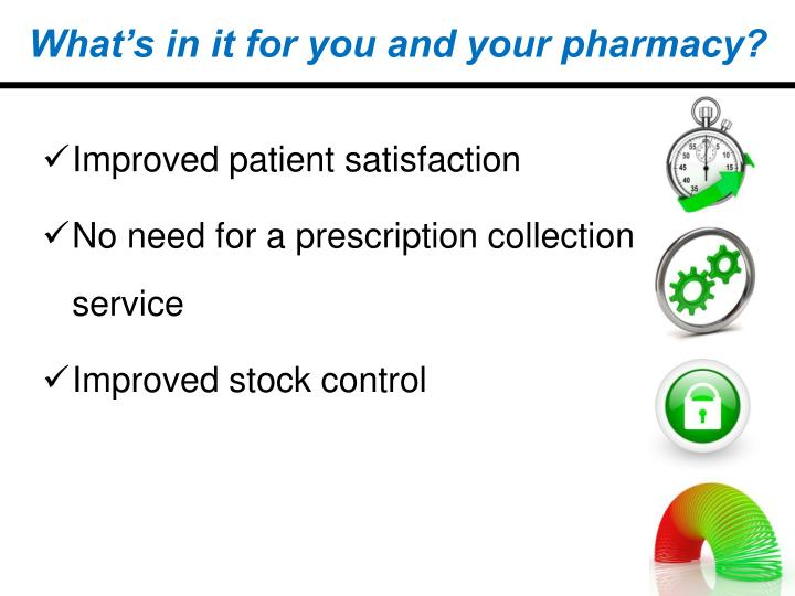 What's in it for you and your pharmacy?