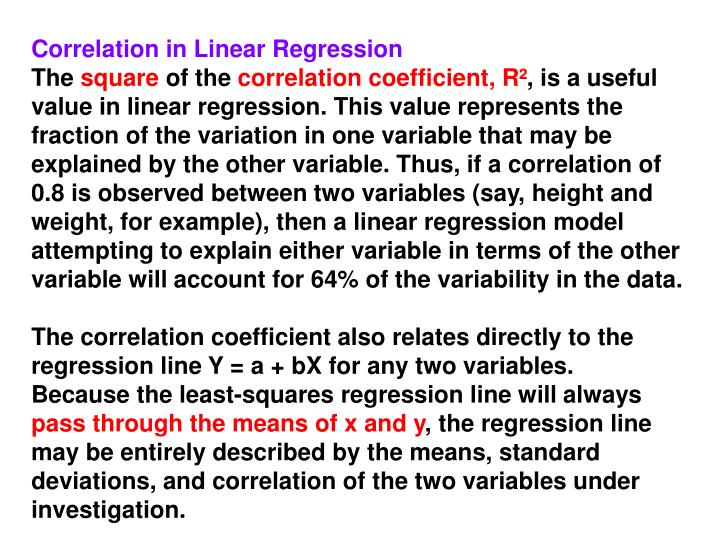 Correlation in Linear Regression