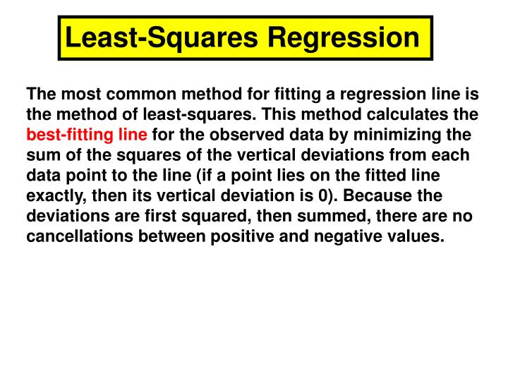 Least-Squares Regression