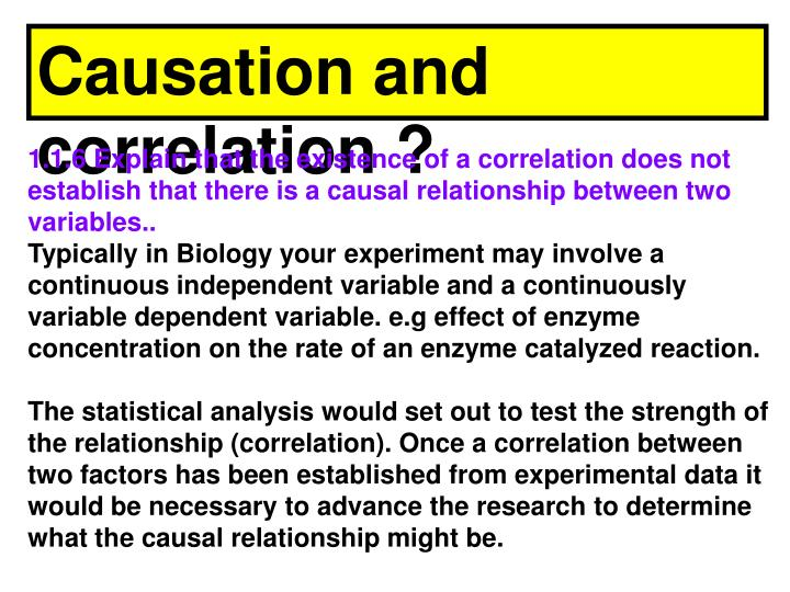 Causation and correlation ?
