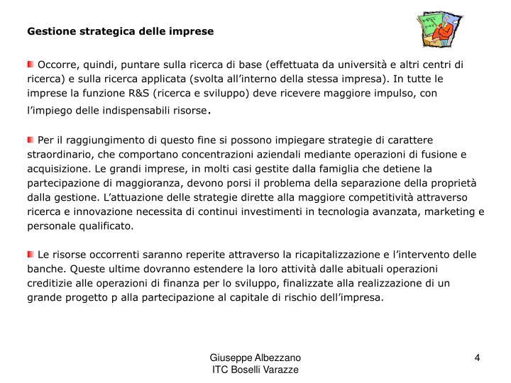Gestione strategica delle imprese