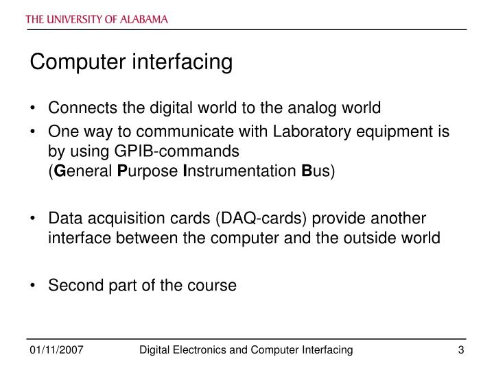 Computer interfacing