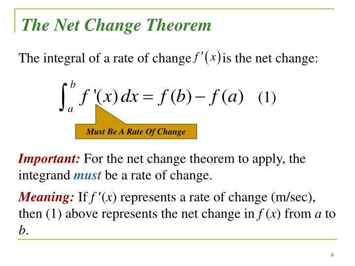 The Net Change Theorem