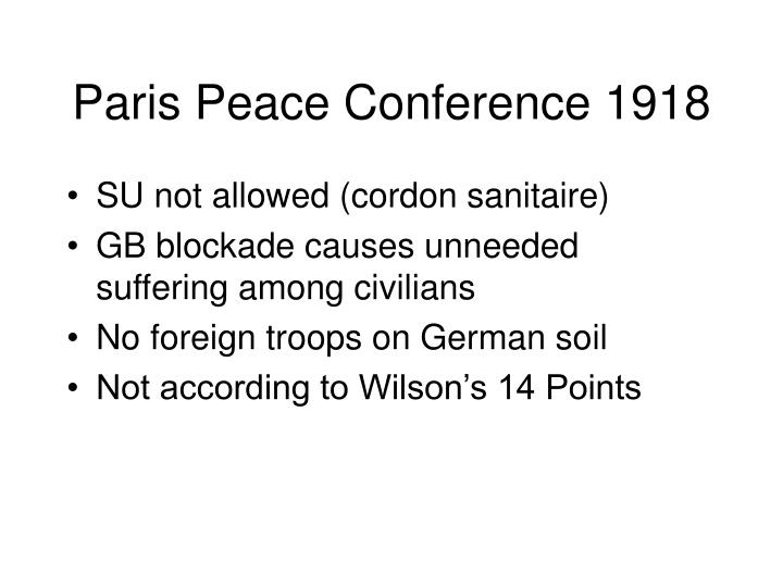 Paris Peace Conference 1918