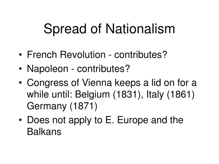 Spread of Nationalism