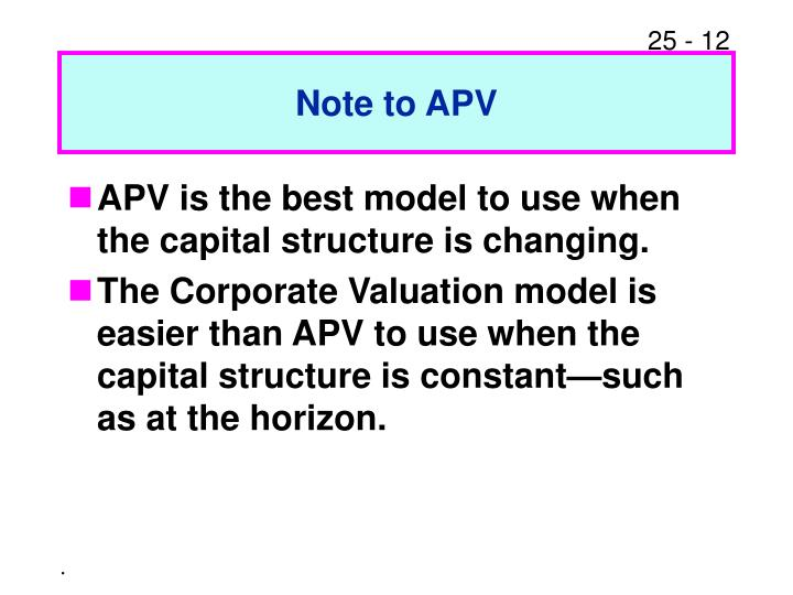 Note to APV