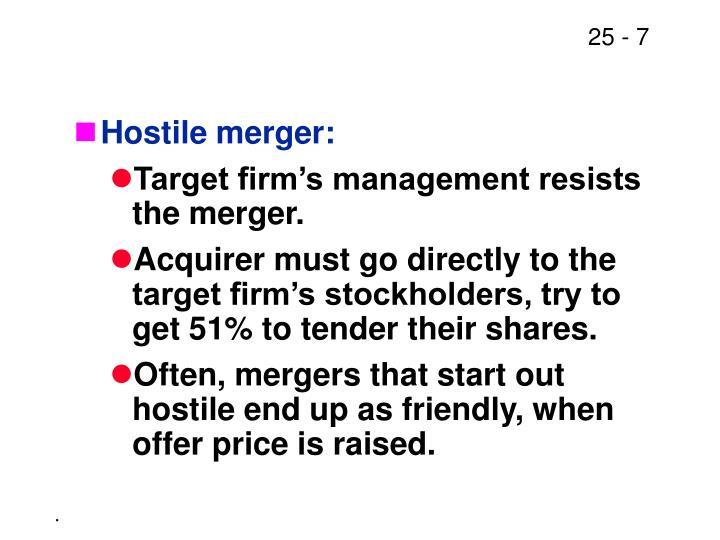 Hostile merger: