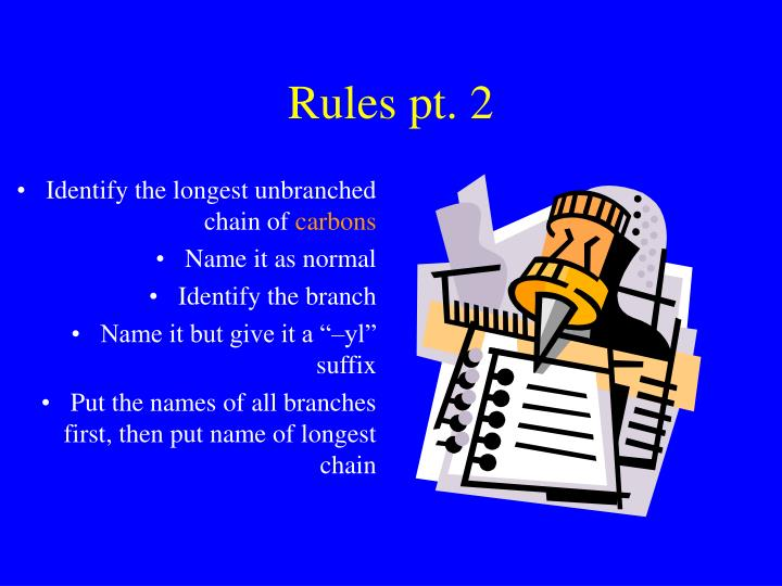 Rules pt. 2