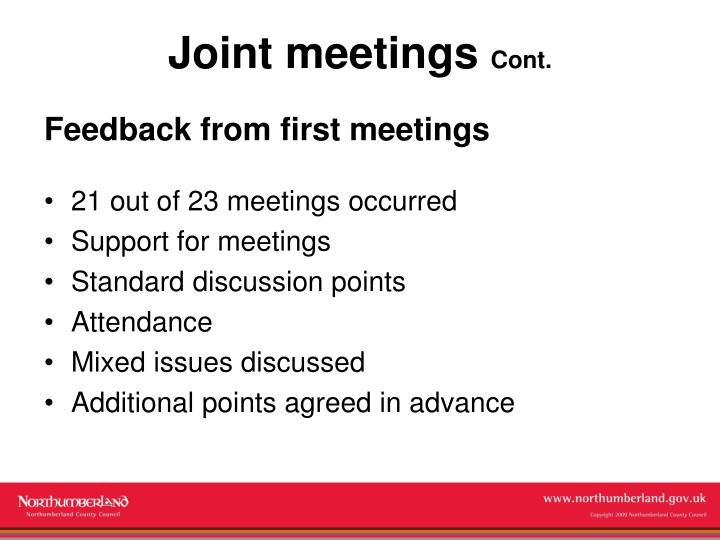Joint meetings