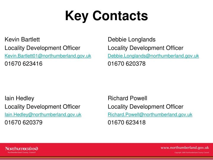 Key Contacts