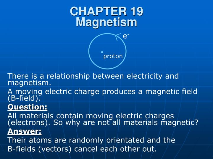 Chapter 19 magnetism