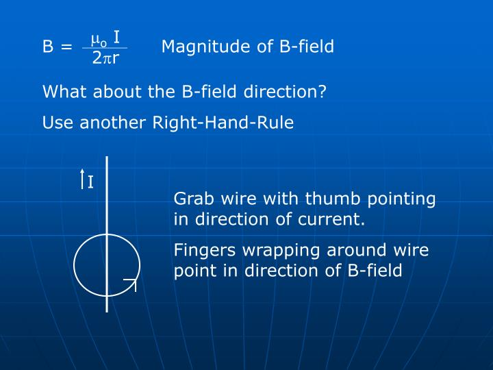 Magnitude of B-field
