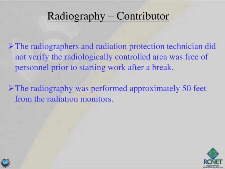 Radiography – Contributor