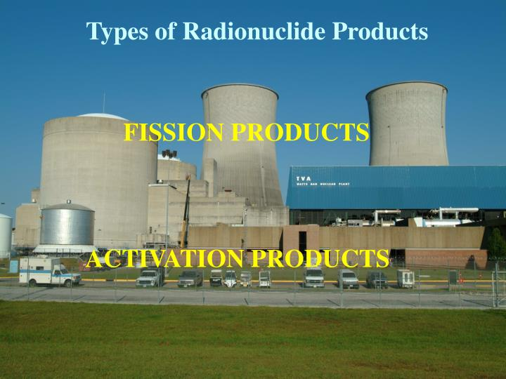 Types of Radionuclide Products
