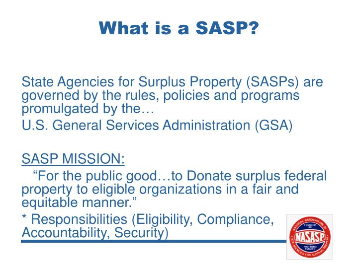 What is a SASP?