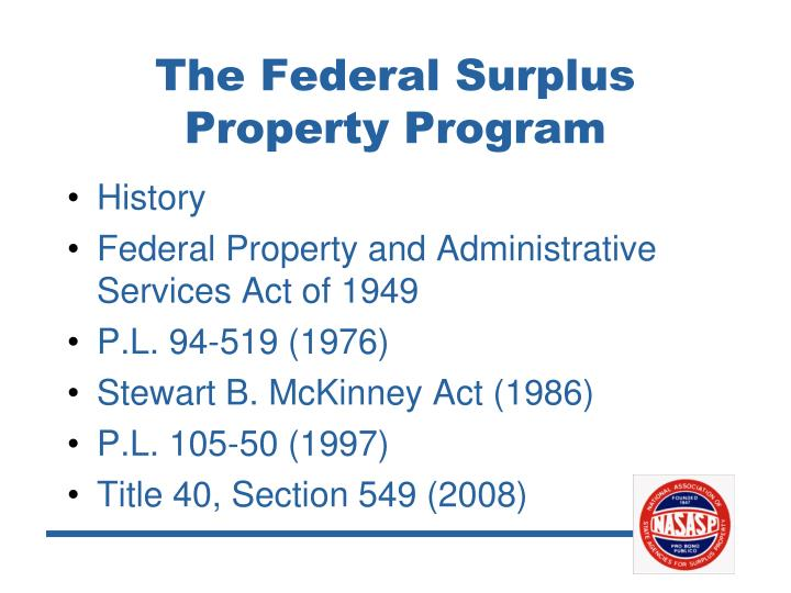 The Federal Surplus Property Program