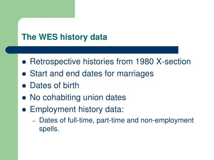 The wes history data