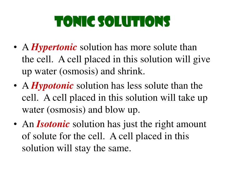 Tonic Solutions