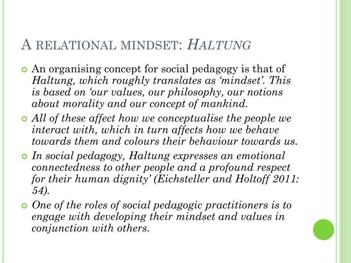 A relational mindset: