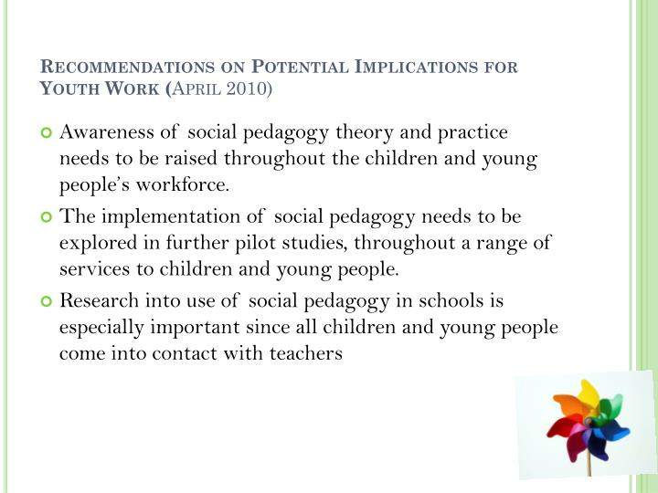 Recommendations on Potential Implications for Youth Work (