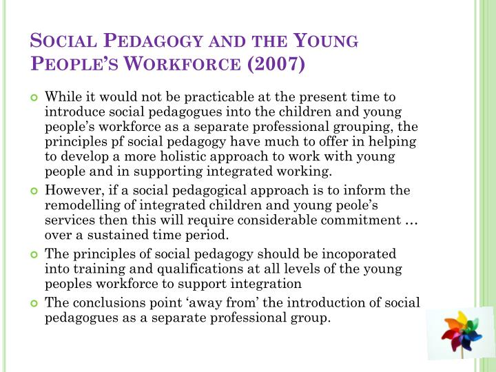 Social Pedagogy and the Young People's Workforce (2007)