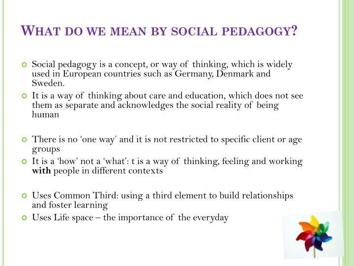 What do we mean by social pedagogy