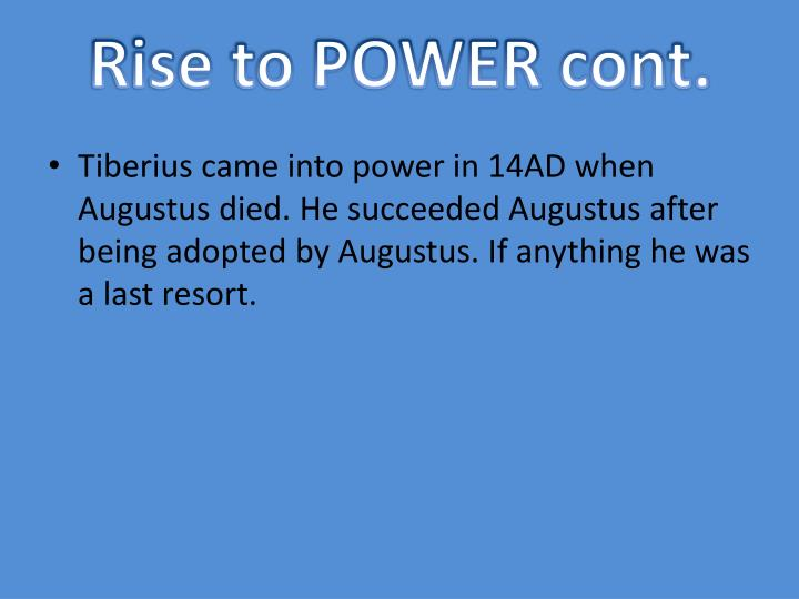 Rise to POWER cont.