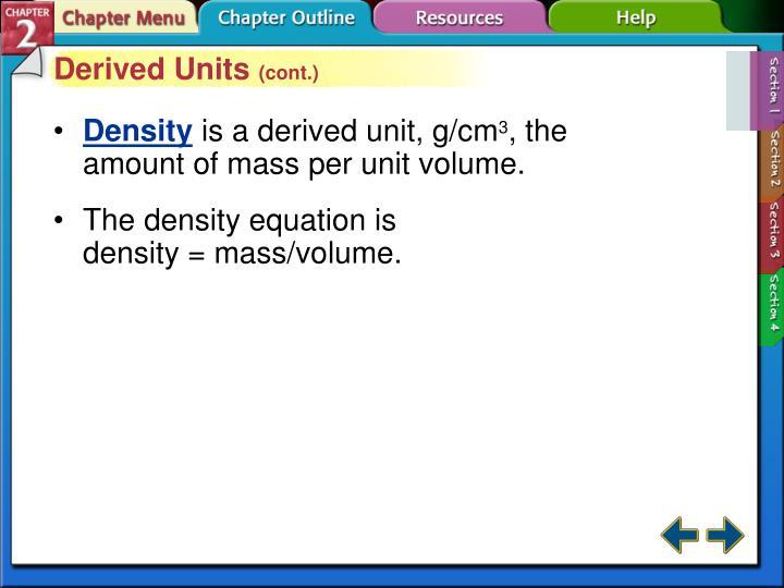 Derived Units