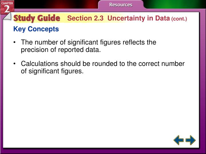 Section 2.3  Uncertainty in Data