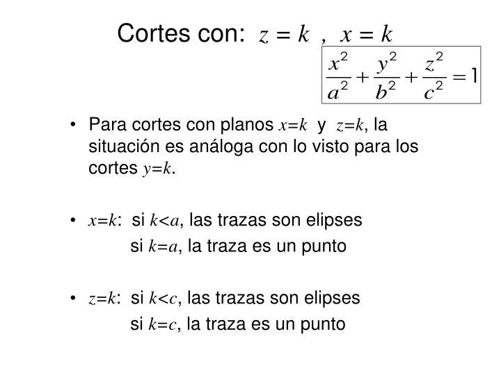 Cortes con: