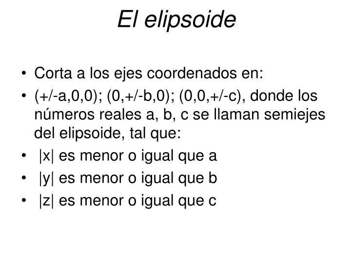 El elipsoide