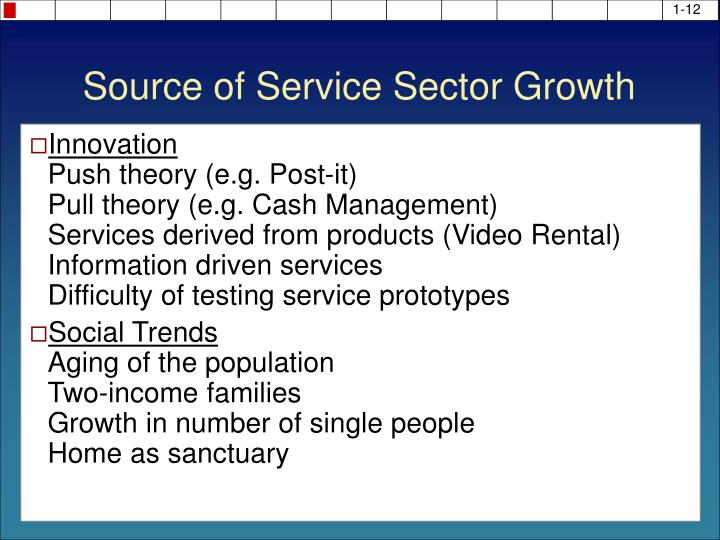 Source of Service Sector Growth