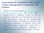 from susan m heathfield hr expert writer management consultant and trainer