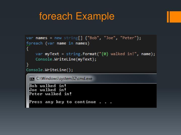 foreach Example