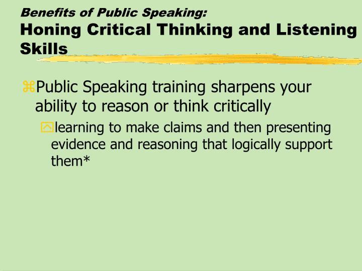 Benefits of Public Speaking: