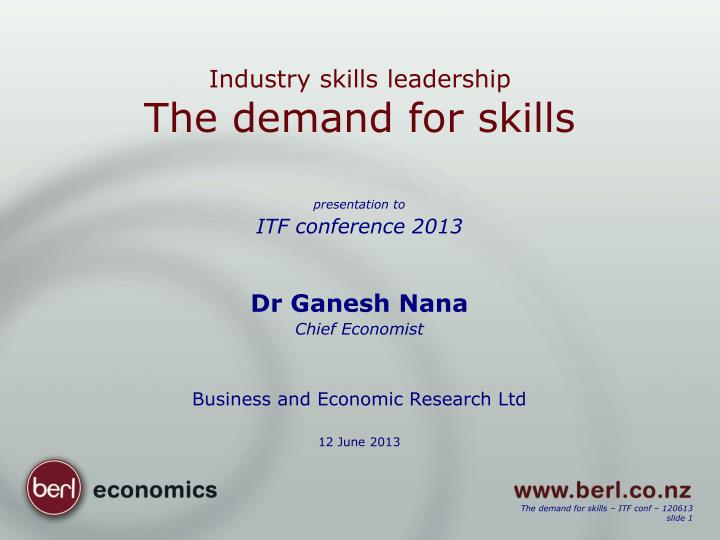 Industry skills leadership