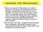 immorality fall reincarnation