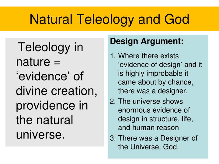 Natural Teleology and God