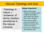 natural teleology and god