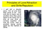 principles of love attraction and strife repulsion