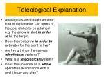 teleological explanation