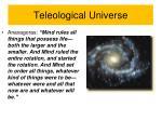 teleological universe