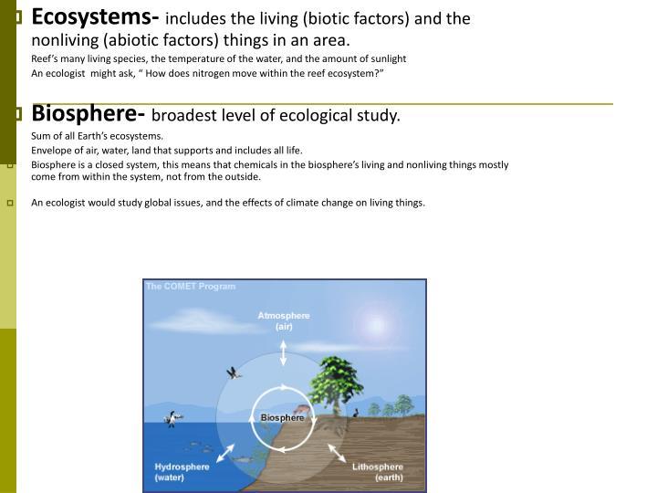 Ecosystems-